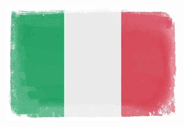 イタリアのグランジヴィンテージ旗