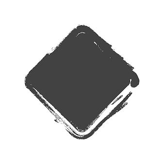 グランジヴィンテージ塗装長方形の形。ベクトルイラスト。