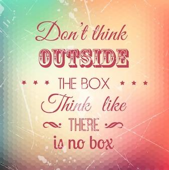 Grunge vintage quote background