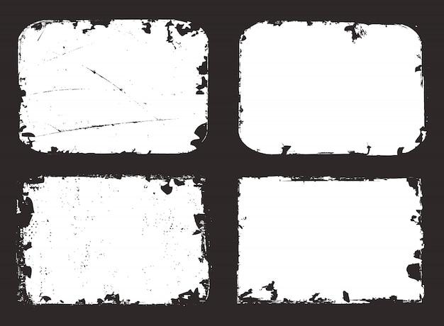 Grunge white frames