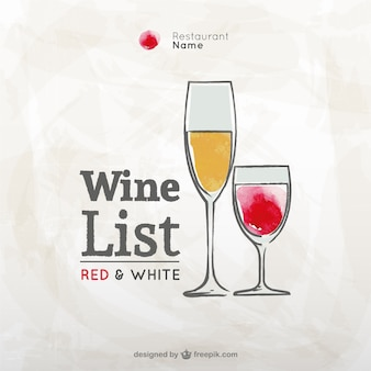Grunge wine list vector