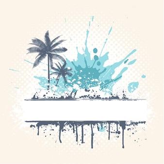 Grunge стиль фона пальмы