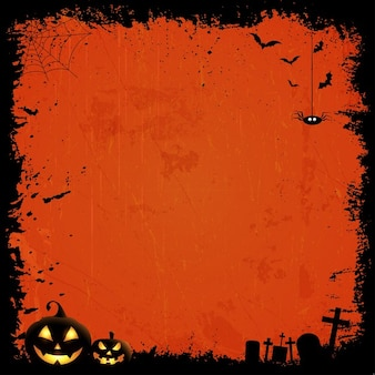 Grunge стиль хэллоуин фон с тыквой