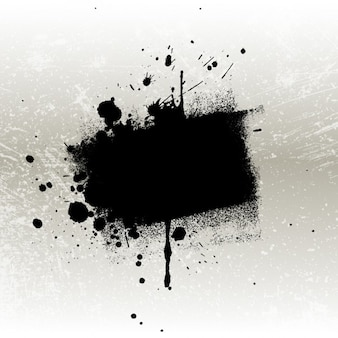 Grungy black stain