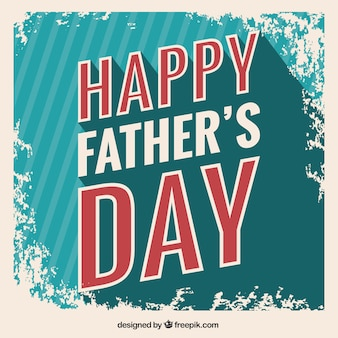 Grungy fathers day card