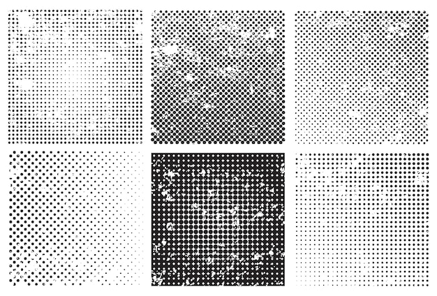 Grungy halftone backgrounds