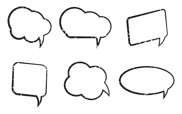 Grungy speech bubbles