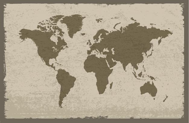 Grungy world map