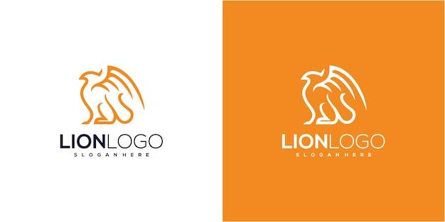 Грифон линии искусства логотип