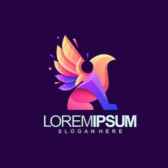 Gryphon logo on purple