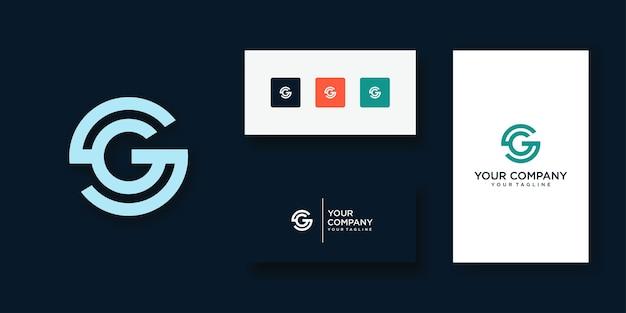 크리에이티브 모던 트렌디와 gs 레터 로고 디자인