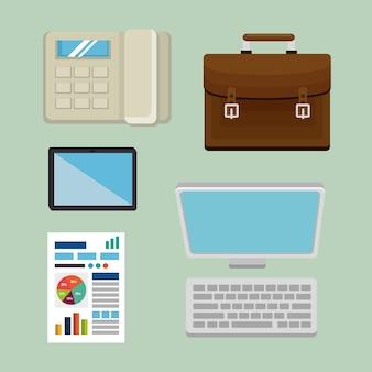 Gst время набор элементов иконок векторная иллюстрация дизайн
