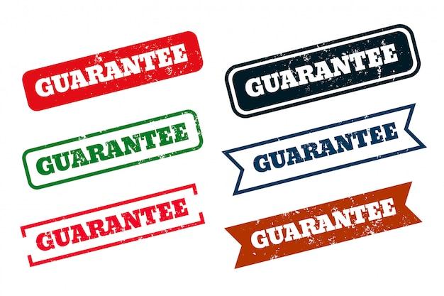 Гарантия гранж проблемных резиновых штампов набор из шести