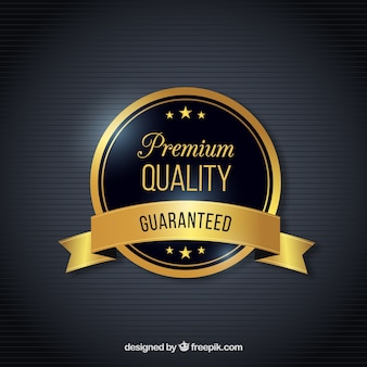 Guarantee label with backgroud