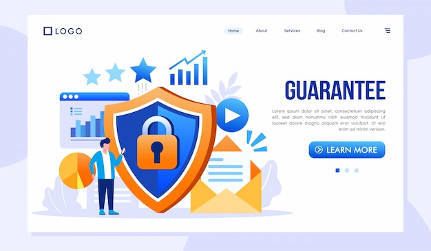 Guarantee landing page website illustration