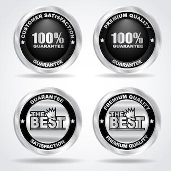 Guarantee metal badges pack