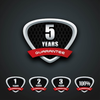 Guarantee shfield badge sticker bundle template