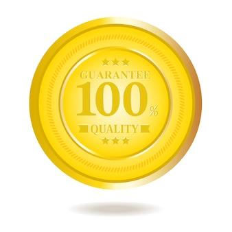Guaranteed badge vector illustration.