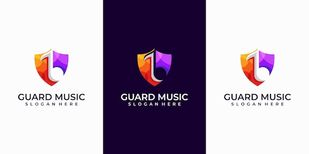 ガードミュージックのロゴデザインのインスピレーション。
