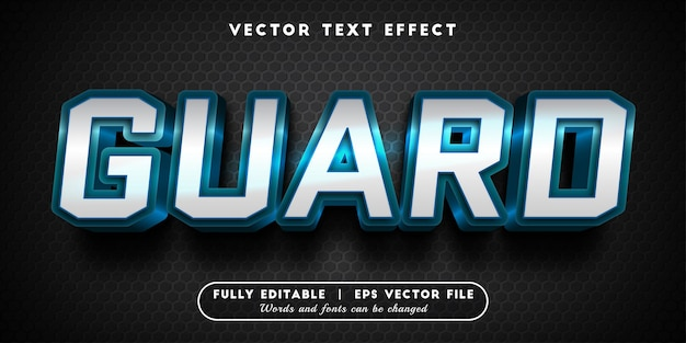Guard text effect with editable text style