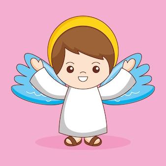 Guardian angel, cartoon illustration