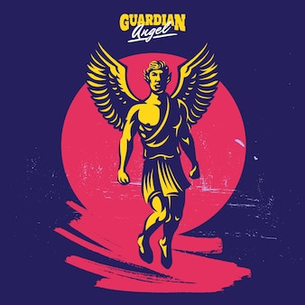 Guardian angel mascot logo template