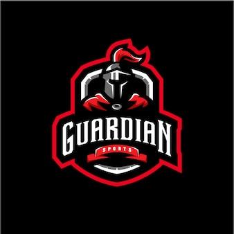 Guardian талисман логотип киберспорт игры иллюстрация