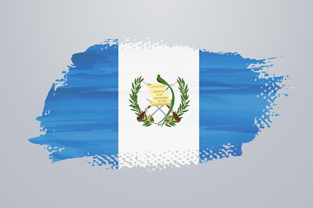 Guatemala brush paint flag