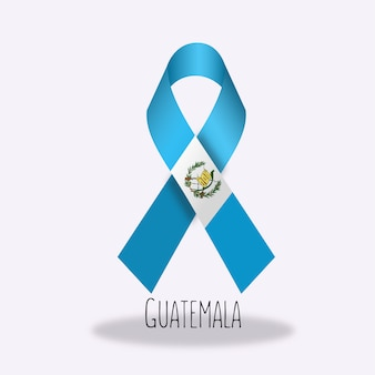 Guatemala flag ribbon design
