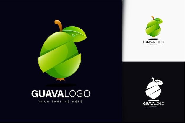 グラデーションのグアバのロゴデザイン