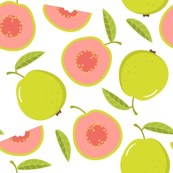 Guava seamless pattern