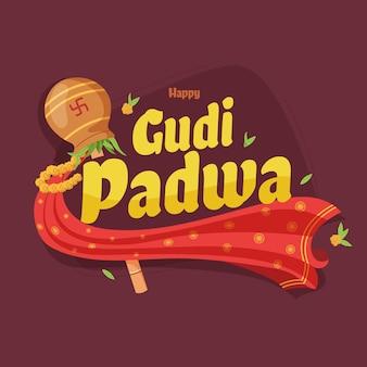 Gudi padwa in flat design
