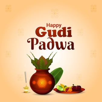 Gudi padwa south indian festival background