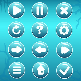 Gui asset of nautical buttons
