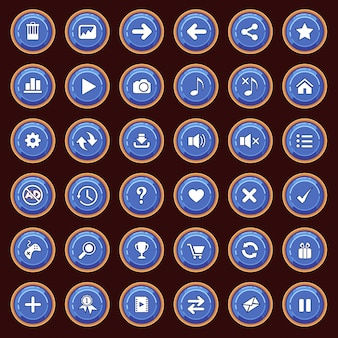 Gui buttons flat set color blue and border color yellow.