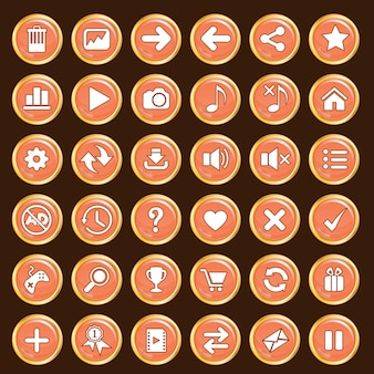 Кнопки gui устанавливают оранжевый цвет и границу золота.