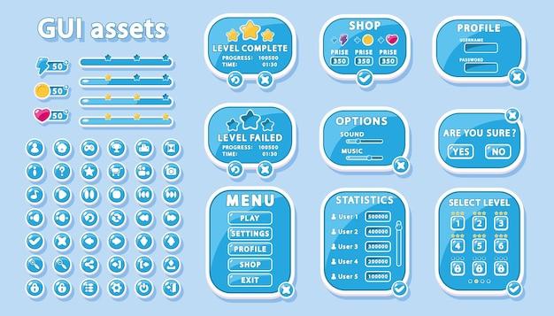 Набор gui для дизайна пользовательского интерфейса игр и приложений