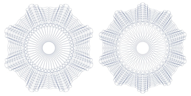 Guilloche pattern rosette for certificate, diploma, voucher, ticket. abstract circular frame