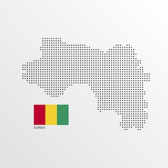 Guinea map design with flag and light background vector