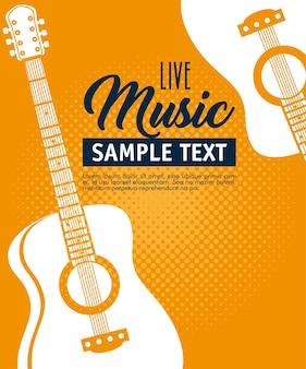 Guitar acoustic instrument label