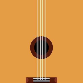 Guitar acoustic pop art style