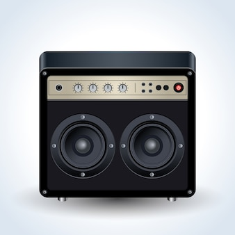 Guitar amplifier realistic vector
