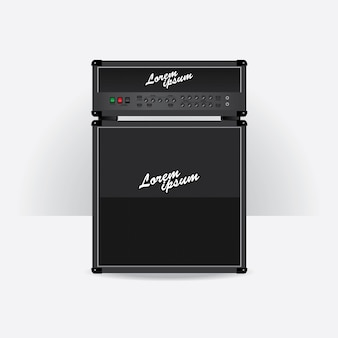 Guitar amplifier set vector illustration