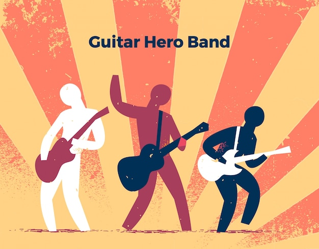 Guitar band characters