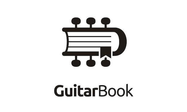 Guitar and book logo design inspiration