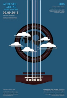 Guitar concert poster