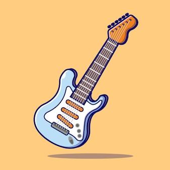 Guitar electric cartoon icon illustration