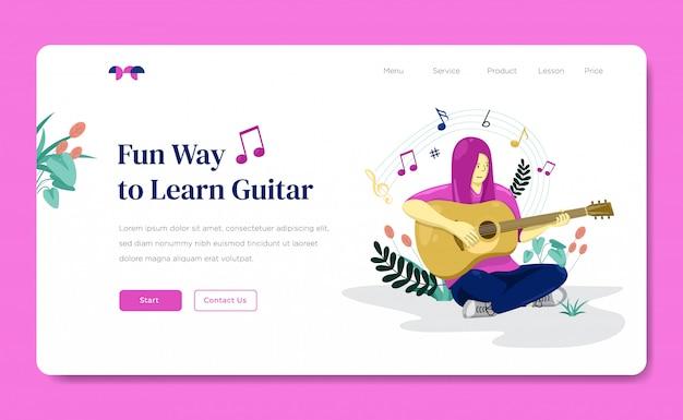 Guitar lesson web landing page