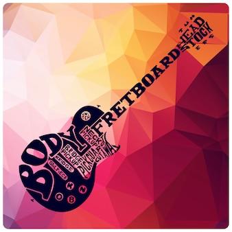 Guitar lettering illustration