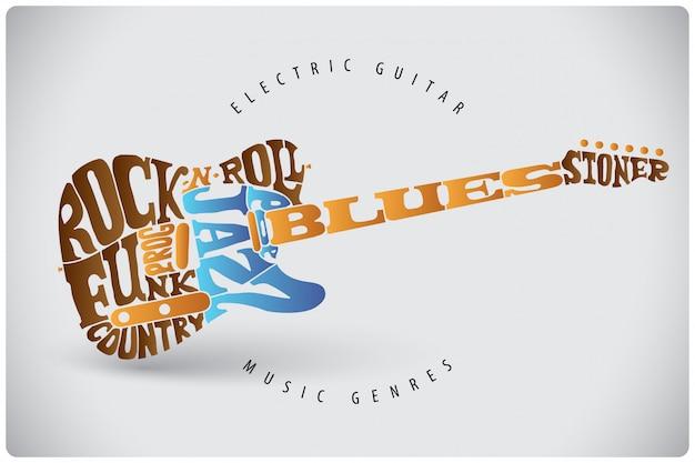 Иллюстрация надписи на гитаре